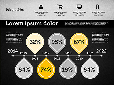 Presentation with Inforgraphics in Flat Design, Slide 16, 01982, Presentation Templates — PoweredTemplate.com