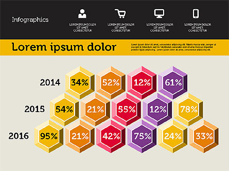 Presentation with Inforgraphics in Flat Design, Slide 2, 01982, Presentation Templates — PoweredTemplate.com