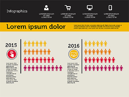 Presentation with Inforgraphics in Flat Design, Slide 7, 01982, Presentation Templates — PoweredTemplate.com
