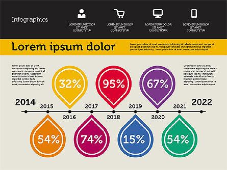 Presentation with Inforgraphics in Flat Design, Slide 8, 01982, Presentation Templates — PoweredTemplate.com