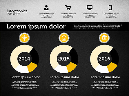 Presentation with Inforgraphics in Flat Design, Slide 9, 01982, Presentation Templates — PoweredTemplate.com