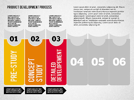 Product Development Process Diagram, Slide 4, 01986, Stage Diagrams — PoweredTemplate.com