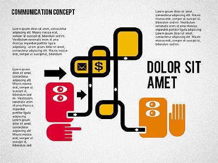 Business Processes Concept, 01987, Process Diagrams — PoweredTemplate.com