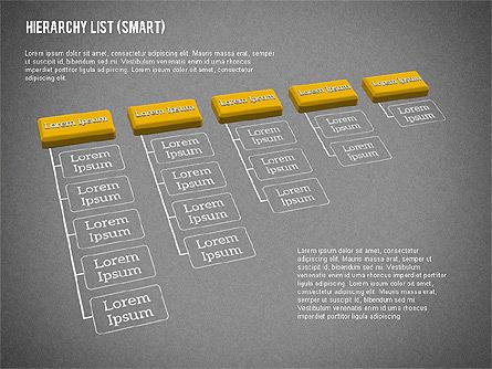 Hierarchy List (smart), Slide 11, 01988, Organizational Charts — PoweredTemplate.com