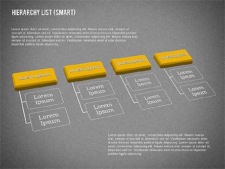 Hierarchy List (smart), Slide 14, 01988, Organizational Charts — PoweredTemplate.com