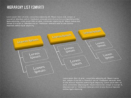 Hierarchy List (smart), Slide 15, 01988, Organizational Charts — PoweredTemplate.com