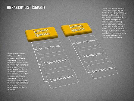 Hierarchy List (smart), Slide 17, 01988, Organizational Charts — PoweredTemplate.com