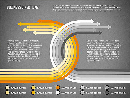 Arrows and Directions Diagram, Slide 11, 01992, Process Diagrams — PoweredTemplate.com