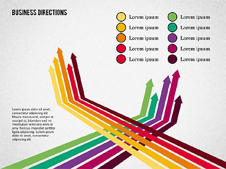 Arrows and Directions Diagram, Slide 6, 01992, Process Diagrams — PoweredTemplate.com
