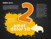 Colored Paint Blotches with Numbers#12