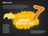 Colored Paint Blotches with Numbers#17