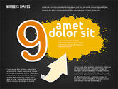 Colored Paint Blotches with Numbers#19