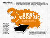 Colored Paint Blotches with Numbers#3