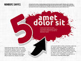 Colored Paint Blotches with Numbers#5