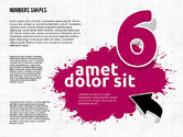 Colored Paint Blotches with Numbers#6