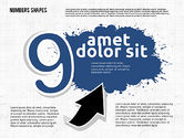 Colored Paint Blotches with Numbers#9