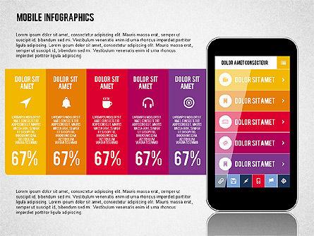 Smartphone Infographics, 01996, Presentation Templates — PoweredTemplate.com