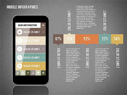 Smartphone Infographics, Slide 10, 01996, Presentation Templates — PoweredTemplate.com