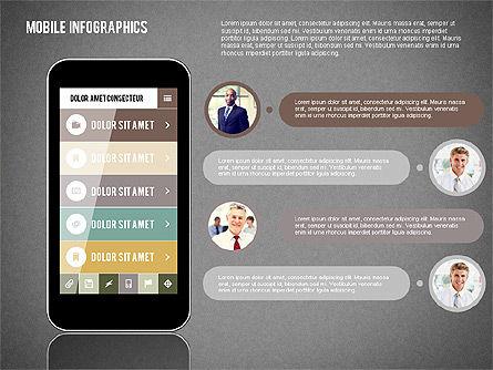 Smartphone Infographics, Slide 11, 01996, Presentation Templates — PoweredTemplate.com