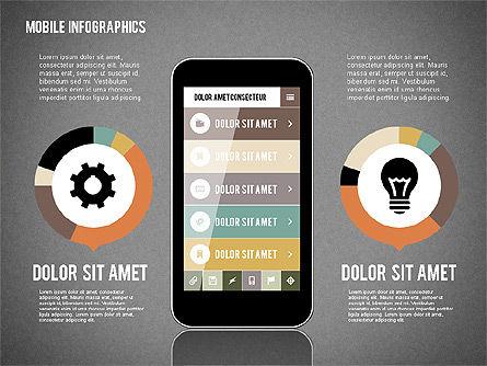 Smartphone Infographics, Slide 12, 01996, Presentation Templates — PoweredTemplate.com