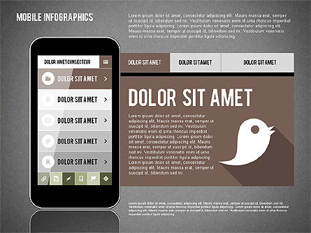 Smartphone Infographics, Slide 13, 01996, Presentation Templates — PoweredTemplate.com