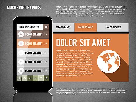 Smartphone Infographics, Slide 14, 01996, Presentation Templates — PoweredTemplate.com