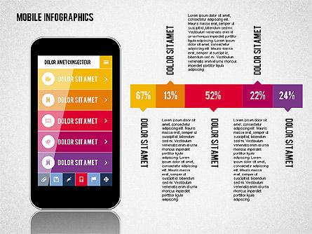 Smartphone Infographics, Slide 2, 01996, Presentation Templates — PoweredTemplate.com