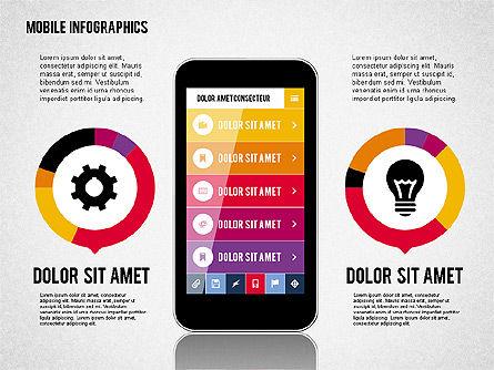 Smartphone Infographics, Slide 4, 01996, Presentation Templates — PoweredTemplate.com