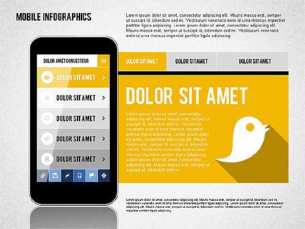 Smartphone Infographics, Slide 5, 01996, Presentation Templates — PoweredTemplate.com