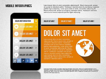 Smartphone Infographics, Slide 6, 01996, Presentation Templates — PoweredTemplate.com