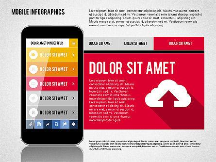 Smartphone Infographics, Slide 7, 01996, Presentation Templates — PoweredTemplate.com