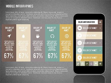 Smartphone Infographics, Slide 9, 01996, Presentation Templates — PoweredTemplate.com