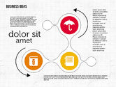 Process Diagrams: Work Process Steps with Icons #01997
