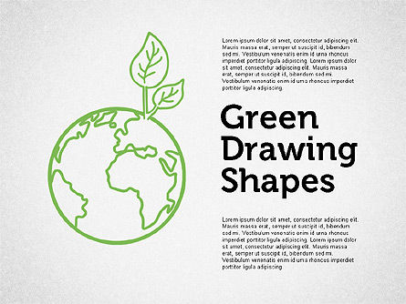 Shapes: Green Sketch Style Shapes #01999