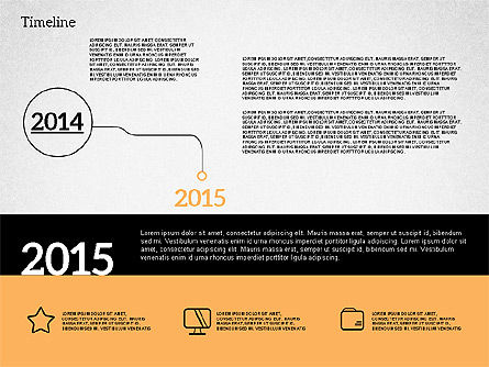 Timelines & Calendars: Timeline in design piatto #02003