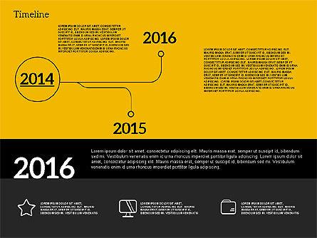 Timeline in Flat Design, Slide 10, 02003, Timelines & Calendars — PoweredTemplate.com