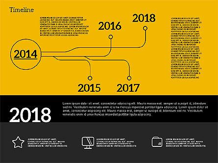 Timeline in Flat Design, Slide 12, 02003, Timelines & Calendars — PoweredTemplate.com