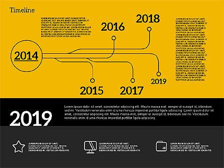 Timeline in Flat Design, Slide 13, 02003, Timelines & Calendars — PoweredTemplate.com