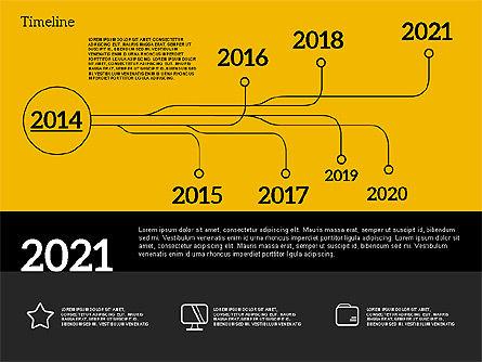 Timeline in Flat Design, Slide 15, 02003, Timelines & Calendars — PoweredTemplate.com