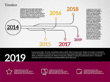 Timeline in Flat Design, Slide 5, 02003, Timelines & Calendars — PoweredTemplate.com