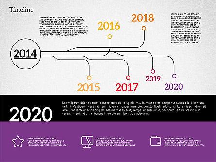 Timeline in Flat Design, Slide 6, 02003, Timelines & Calendars — PoweredTemplate.com