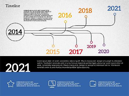 Timeline in Flat Design, Slide 7, 02003, Timelines & Calendars — PoweredTemplate.com