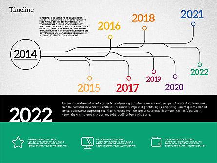 Timeline in Flat Design, Slide 8, 02003, Timelines & Calendars — PoweredTemplate.com