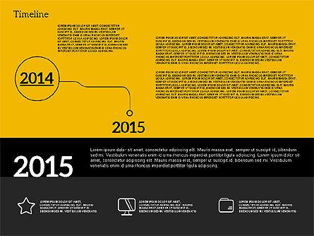 Timeline in Flat Design, Slide 9, 02003, Timelines & Calendars — PoweredTemplate.com