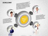 Organizational Charts: 3D Circle Org Chart #02005