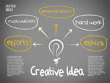 Creative Idea Sketch, Slide 10, 02007, Business Models — PoweredTemplate.com