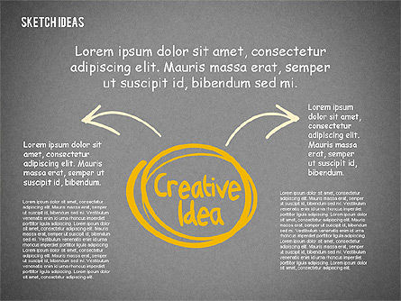 Creative Idea Sketch, Slide 14, 02007, Business Models — PoweredTemplate.com