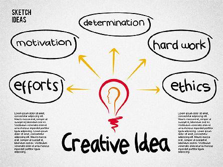 Creative Idea Sketch, Slide 2, 02007, Business Models — PoweredTemplate.com