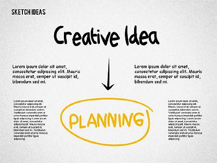 Creative Idea Sketch, Slide 3, 02007, Business Models — PoweredTemplate.com