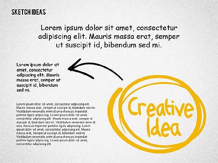 Creative Idea Sketch, Slide 4, 02007, Business Models — PoweredTemplate.com